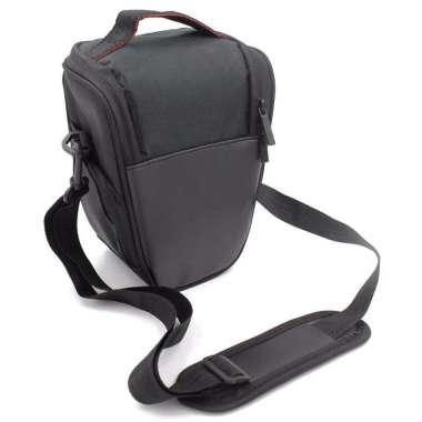 harga EDS Fashion Triangle Waterproof DSLR/SLR Digital Camera Shoulder Bag For Canon EOS Nikon Black Blibli.com