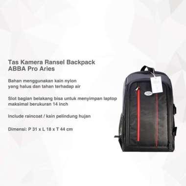 harga Tas Kamera Ransel Backpack ABBA Pro Aries Bisa Laptop 14 Inch Hitam Blibli.com