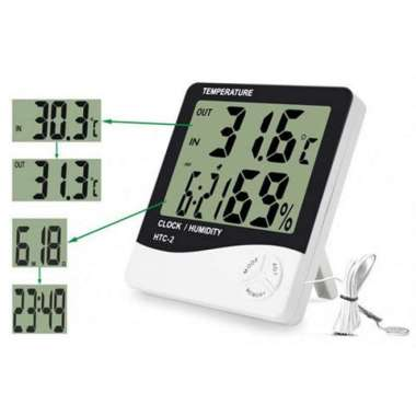 harga HTC-2 Hygrometer Thermometer HTC2 Higrometer Termometer HTC 2 Digital putih Blibli.com