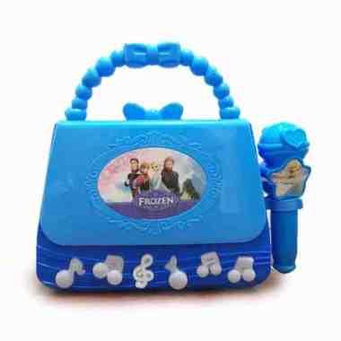 harga Mainan Anak - Microphone Frozen Bag Mic Tas Single Karaoke biru Blibli.com