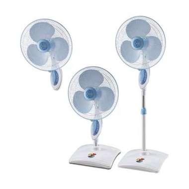 harga Kipas Angin Dinding Berdiri Meja 3 in 1 16 Inch Remote Miyako TJR 101 - TJR101 Stand Desk Wall Fan white Blibli.com