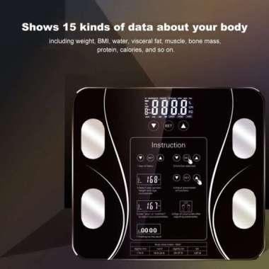 harga Timbangan Badan Digital BMI Body Fat Monitor Analisis Hitam Blibli.com