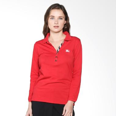 Burberry Polo Shirt Long Sleeve - Red