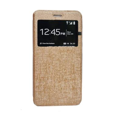 Delkin Flip Cover Casing for Oppo Neo 7 A33 - Gold