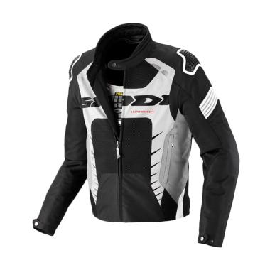 Spidi Warrior Net Jaket Motor - Black White