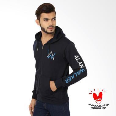 FG Clothing Alan Walker Jaket Pria - Hitam