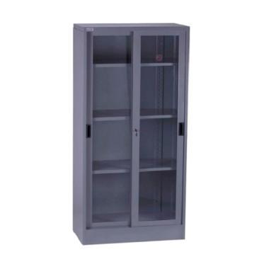 VIP V 602 Lemari Arsip Besi Tinggi Pintu Sliding Kaca Filing Cabinet