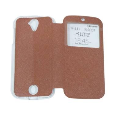 Ume Flipshell / Flip Cover Casing f ... Handphone / View - Coklat