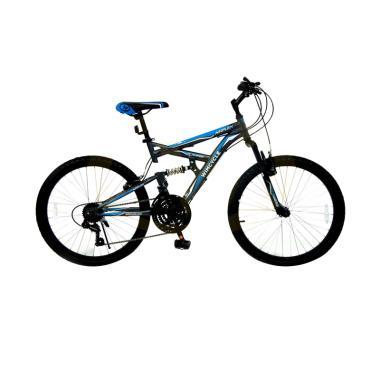 harga WIMCYCLE Air Flex X2 Sepeda MTB - Grey [24 Inch] Blibli.com
