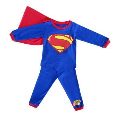 Dessan Superman Bersayap Setelan Baju Tidur Anak - Biru Merah