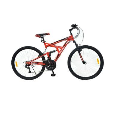 WIMCYCLE Air Flex X2 Sepeda MTB - Merah [26 Inch]