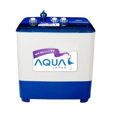 Aqua QW880XT Mesin Cuci - Putih Biru [2 Tabung]