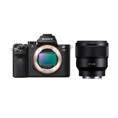 Sony Alpha A7 Mark II Body Only Kam ...  Black + SEL FE 85mm F1,8