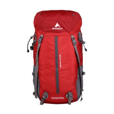 Eiger Eliptic Lunaris Tas Ransel - Red Grey [45 L]