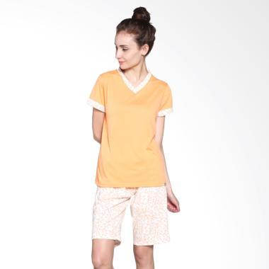 Puppy 81610 22686 O - OR/OW Original Print Baju Tidur Wanita - Orange