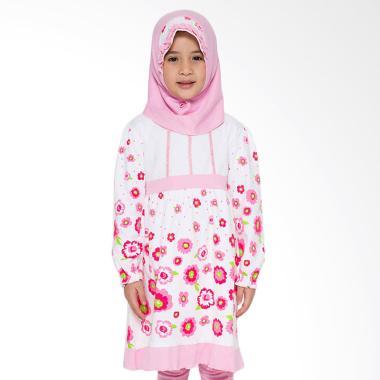 4 You Sweet Flower Moslem Long Dress - Pink