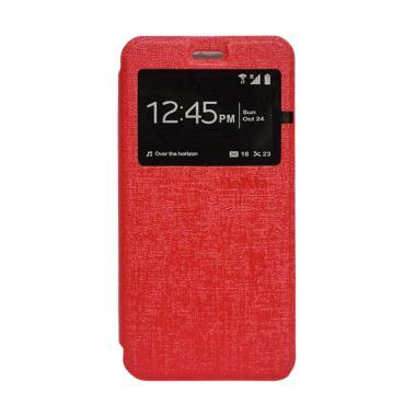 Flip Shell  Flip Cover Casing for Oppo F3 - Merah