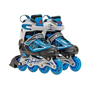 Cougar ADJ. Inline Skate W-ABEC7 MZS851 BLACK-BLUE 30-33