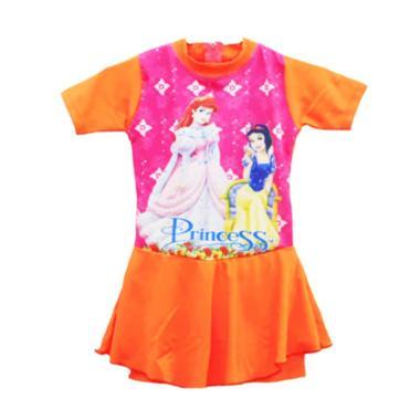 Nice Motif Princess Baju Rok Renang Anak - Orange
