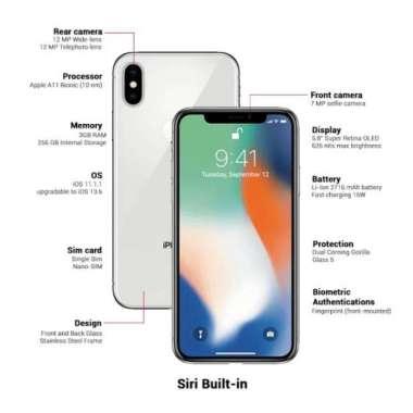 harga IPhone X 256GB silver Blibli.com