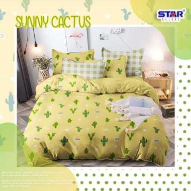 harga Star Motif Shabby Kuning Sunny Cactus Bed Cover kuning 160 x 200 Blibli.com