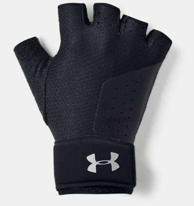 Under Armour Women's  Medium Training Gloves-BLACK -  - SILVER L