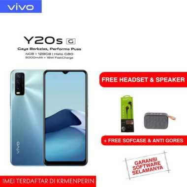 harga VIVO Y20S (G) 4/128GB FREE SPEAKER BLUETOOTH + HEADSET GARANSI RESMI biru Blibli.com