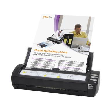Plustek AD470 Scanner ADF Otomatis [Folio/F4/18 Lembar per Menit]