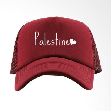 RLUCK8888 Trucker Love Palestine Topi Pria - Maroon 3591bfd44a