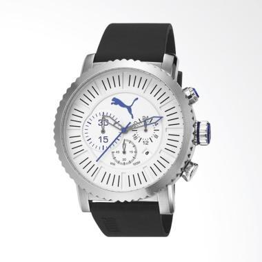 PUMA Chronograph Tali Rubber Jam Ta ...  Hitam Silver PU103521002