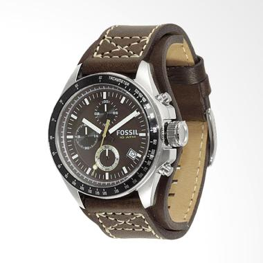 Fossil Men's Decker Chronograph Cuff Jam Tangan Pria - Brown CH2599