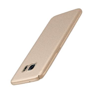 WEIKA Sand Scrub Ultra Thin Hardcas ... laxy A8 or A8 Plus - Gold