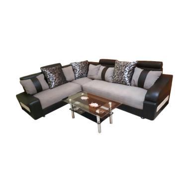 Sumber Rejeki Kursi Sofa Lusi Tipe 008 Grey Black White [Pre Order]