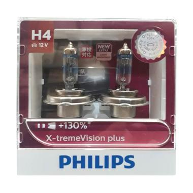 PHILIPS H4 X-treme Vision Plus Bohlam Lampu Halogen [60/55 W/12 V]