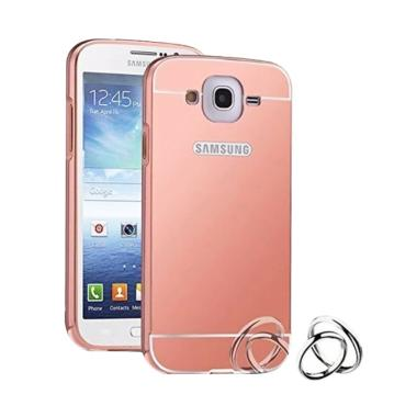 Winner Bumper Metal Sliding Mirror Casing for Samsung Galaxy Grand Prime G530 - Rose Gold