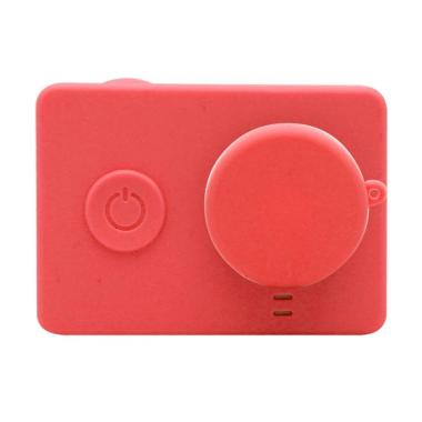 SJHOP Silicone Case and Lens Cap for Xiaomi Yi - Merah