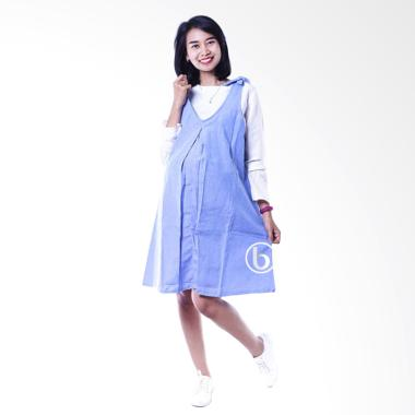 Mama Hamil DRO 843 Candy Dress Over ... l dan Menyusui - Biru Tua