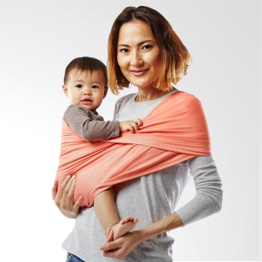 Baby K'Tan Baby Carrier Active Coral | Size XS | Gendongan Bayi
