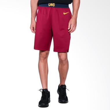 NIKE Men Basketball Cleveland Cavaliers Authentic Short Road Celana Basket Pria [866375-677]