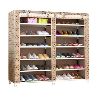 Home-Klik Motif Mickey Shoe Rack 12 Layers with Dust Cover Rak Sepatu