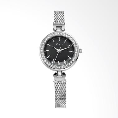 Kimio KW550SA Round Diamonds Women's Watch Jam Tangan Wanita - Black