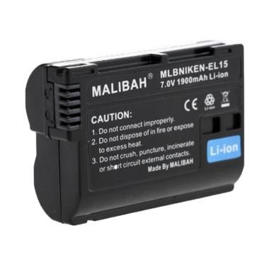 Malibah EN EL 15 Li Ion Battery for Nikon