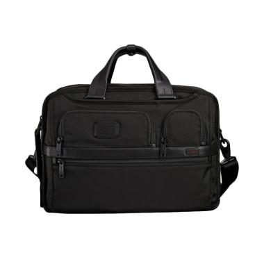 TUMI Alpha 2 Three Way Brief Travel Bag Pria - Black