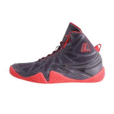 League Typhoon Sepatu Basket Pria - Black Red