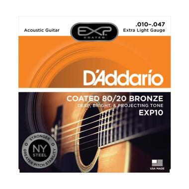 Daddario EXP10 Coated 80/20 Bronze Senar Gitar Akustik