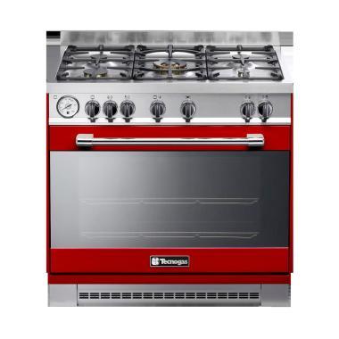 Tecnogas PG1R96G5VC Kompor Free Standing - Red Silver