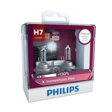 PHILIPS Xtreme Vision Plus 130% H7 Lampu Halogen