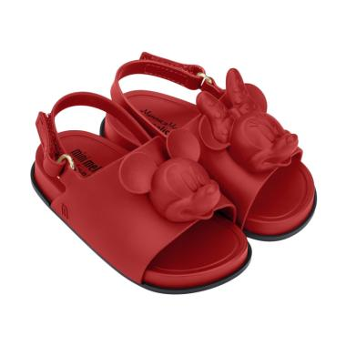 Mini Melissa Beach Slide Disney Sepatu Anak - Red