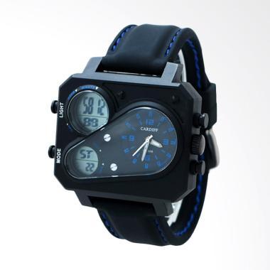 CARDIFF Jam Tangan Pria - Black Blue [DT 6119]