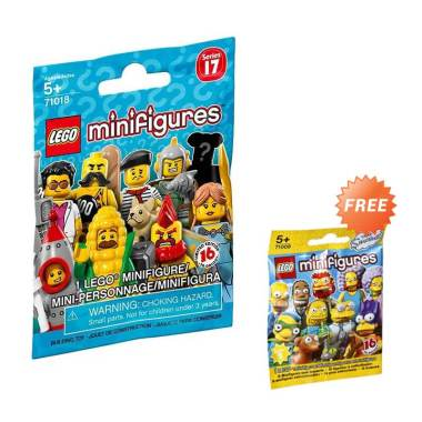 Buy LEGO 71018 Series 17 Minifigures + Get Free LEGO 71009 Series 2 The Simpsons